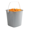 160 oz. Gray HDPE Deli Tub with White Handle (Lid sold separetely)