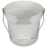 10 Quart White Deluxe Heavy Duty Bucket