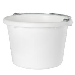 White Molded Rubber-Polyethylene 8 Quart Pail