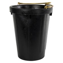 10 Quart Heavy Duty Neoprene Rubber Tall Pail with Brass Handle