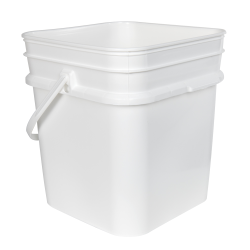 3.25 Gallon/12 Liter 30 Series White HDPE Square Pail with Handle