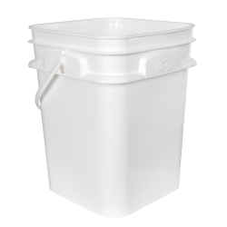 4 Gallon/15L 30 Series White HDPE Square Pail with Handle