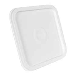 30 Series White Square Snap-On Lid