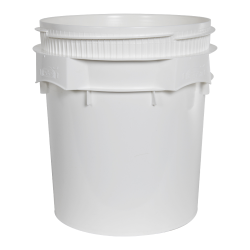 Lite Latch® White 7.7 Gallon Plastic Drum