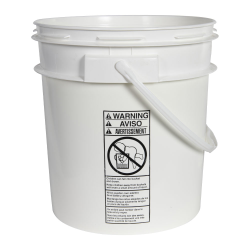 Smart Seal™ White 4 Gallon Bucket
