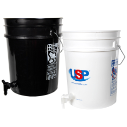 Tamco® Modified Premium 5 Gallon Round Buckets with Spigots