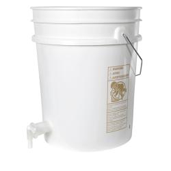 Premium White 5 Gallon Tamco® Modified Bucket with Spigot