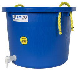10 Gallon Blue Multi-Purpose Bucket Modified by Tamco® with Spigot