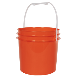 Orange 1 Gallon Bucket (Lid Sold Separately)