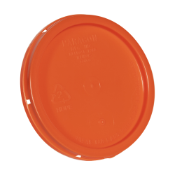 Orange Tear Tab Lid for 1 Gallon Buckets