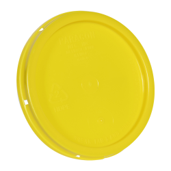 Yellow Tear Tab Lid for 1 Gallon Buckets