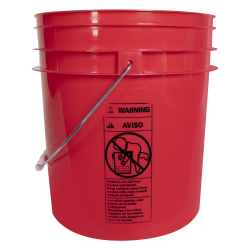 Red 4 Gallon Bucket (Lid Sold Separately)