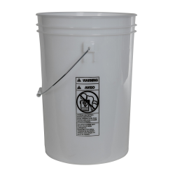Economy Natural 6 Gallon Bucket (Lid Sold Separately)