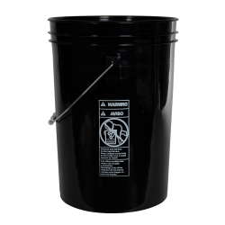 Economy Black 6 Gallon Bucket (Lid Sold Separately)