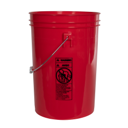 Economy Red 6 Gallon Bucket (Lid Sold Separately)