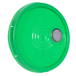Green Tear Tab Lid with Spout for 6 Gallon Economy Buckets
