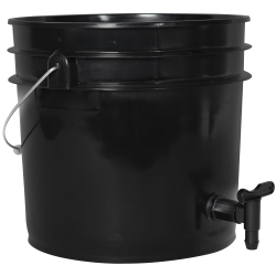 Premium Black 3.5 Gallon Tamco® Modified Bucket with Spigot