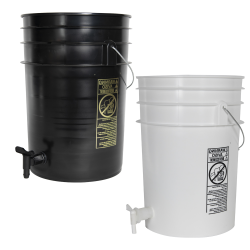 Tamco® Modified Premium 6 Gallon Round Buckets with Spigots