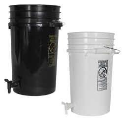 Tamco® Modified Premium 7 Gallon Round Buckets with Spigots