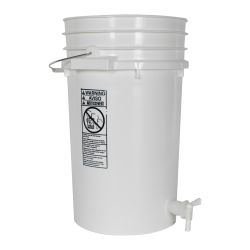 Premium White 7 Gallon Tamco® Modified Bucket with Spigot
