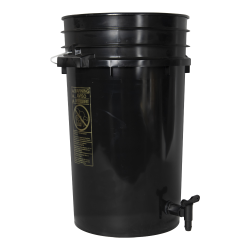 Premium Black 7 Gallon Tamco® Modified Bucket with Spigot