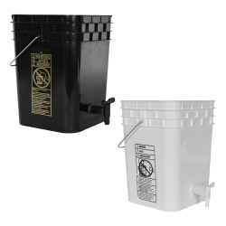 Tamco® Modified Premium 4 Gallon Square Buckets with Spigots