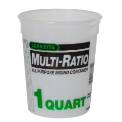 Leaktite® 1 Quart HDPE Multi-Ratio Container (Lid Sold Separately)