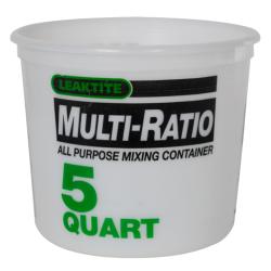 Leaktite® 5 Quart HDPE Multi-Ratio Container (Lid Sold Separately)