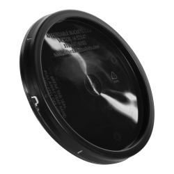 2 Gallon Economy Black Tear Tab Bucket Lid