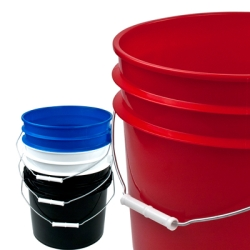 Letica® 3-1/2 Gallon Buckets & Lids