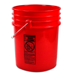 Premium Red 5 Gallon Bucket