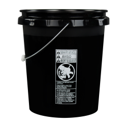 Economy Black 5 Gallon Bucket