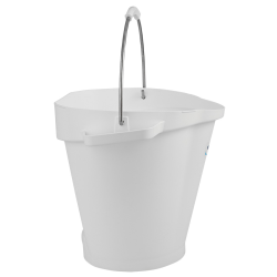 Vikan® Polypropylene White 5 Gallon Pail