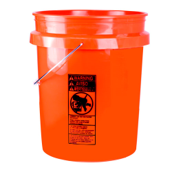 Premium Orange Industrial 5 Gallon Bucket & Lid