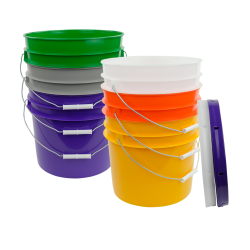 3.5 Gallon HDPE Buckets & Lids