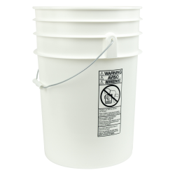 White 6 Gallon Bucket