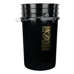 Black 7 Gallon Bucket