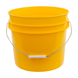 Yellow 3.5 Gallon HDPE Bucket