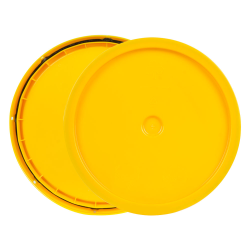 Yellow 3.5 to 5.25 Gallon HDPE Lid with Tear Tab