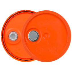 Orange 3.5 to 5.25 Gallon HDPE Lid with Pour Spout