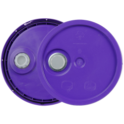 Purple 3.5 to 5.25 Gallon HDPE Lid with Pour Spout