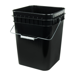 Economy Black 4 Gallon Square Bucket