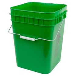 Economy Green 4 Gallon Square Bucket
