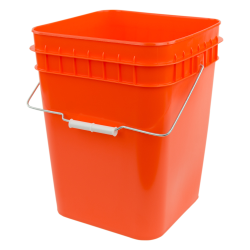 Economy Orange 4 Gallon Square Bucket