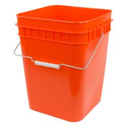 Economy Orange 4 Gallon Square Bucket