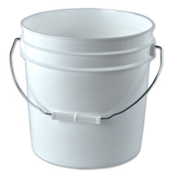 White 2 Gallon Bucket & Lid