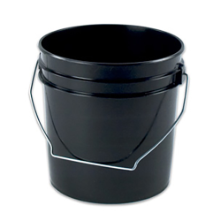 Letica® Black 1 Gallon Bucket & Lid