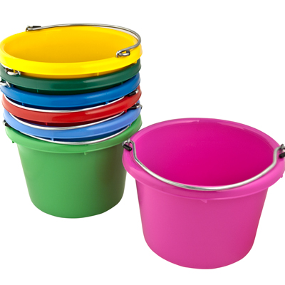 Molded Rubber-Polyethylene 8 Quart Pails