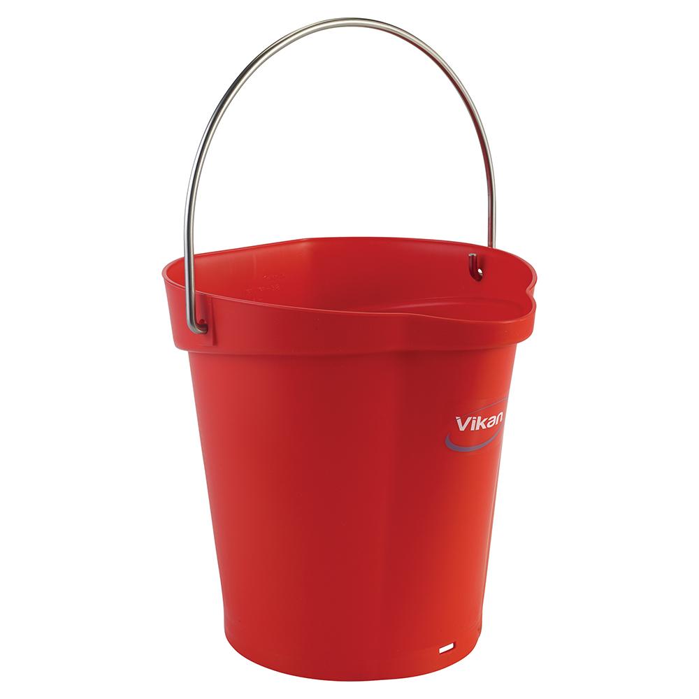 Vikan® Polypropylene Red 1.5 Gallon Pail
