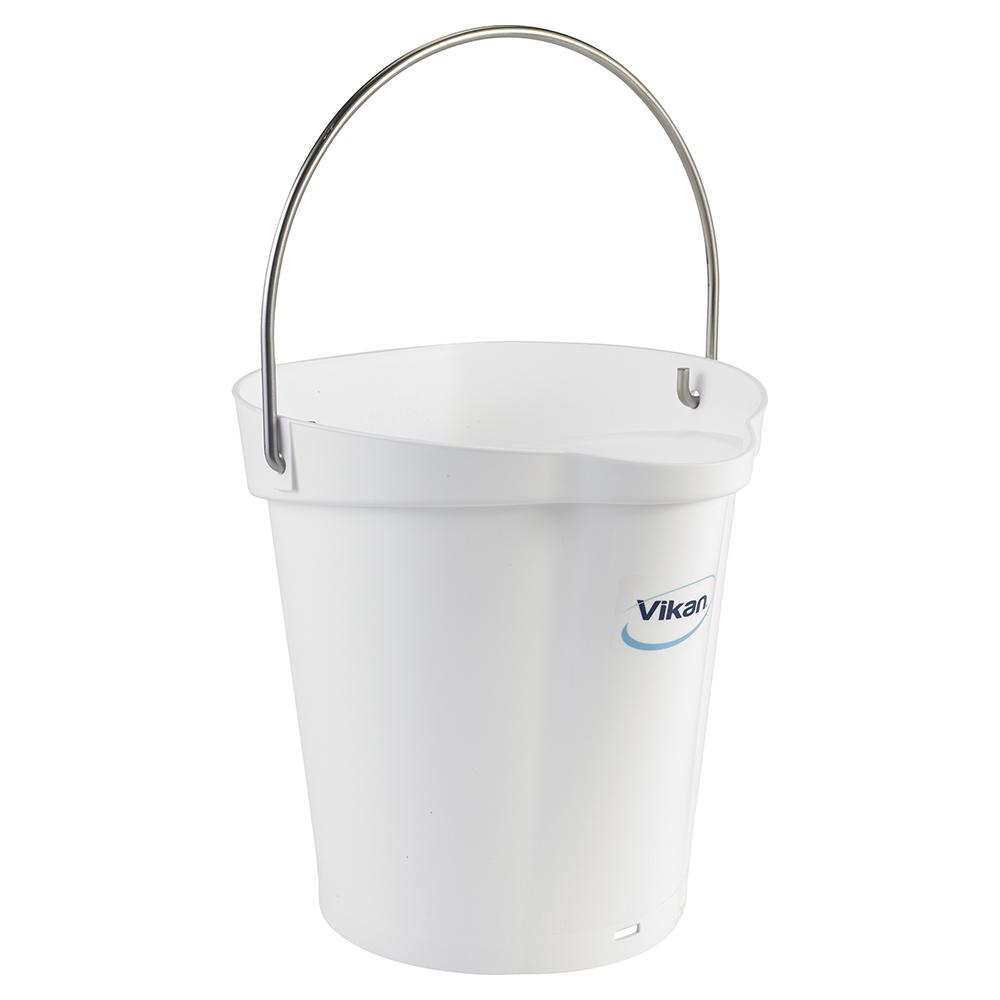 Vikan® Polypropylene White 1.5 Gallon Pail
